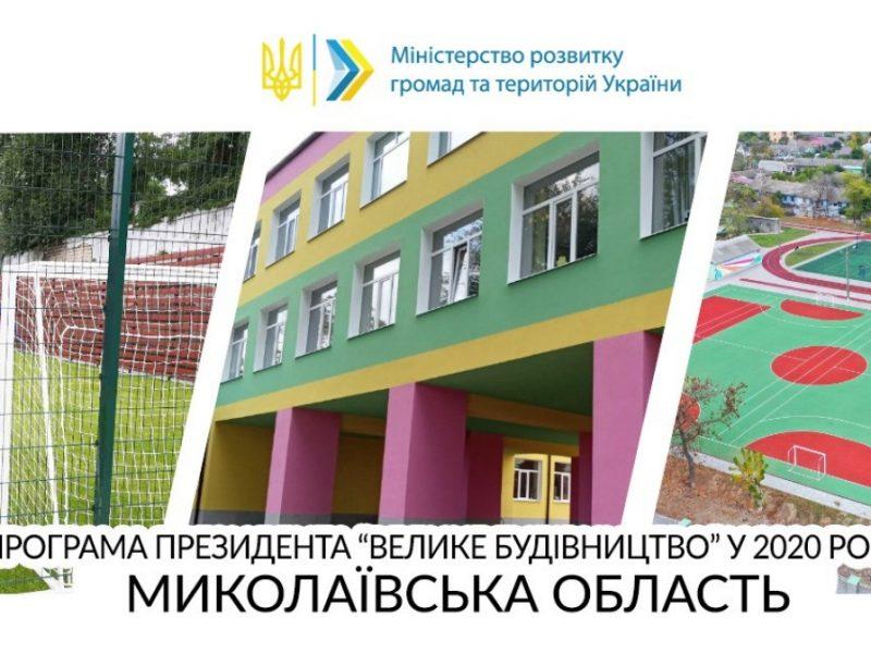 На Миколаївщині відремонтовано та реконструйовано 7 соціальних об'єктів – завдяки «Великому будівництву 2020»