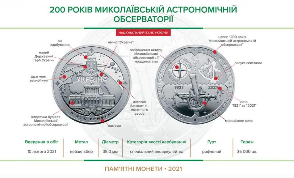 Памятная монета в честь 200-летия Николаевской обсерватории поступит в обращение 10 февраля (ФОТО) 1