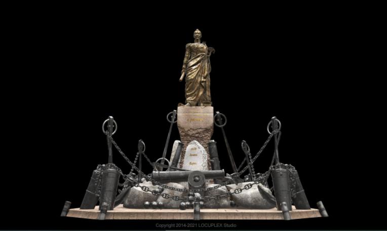 В Николаеве создали 3D-модель памятника Грейгу, которая станет частью вирт-реальности Соборной площади