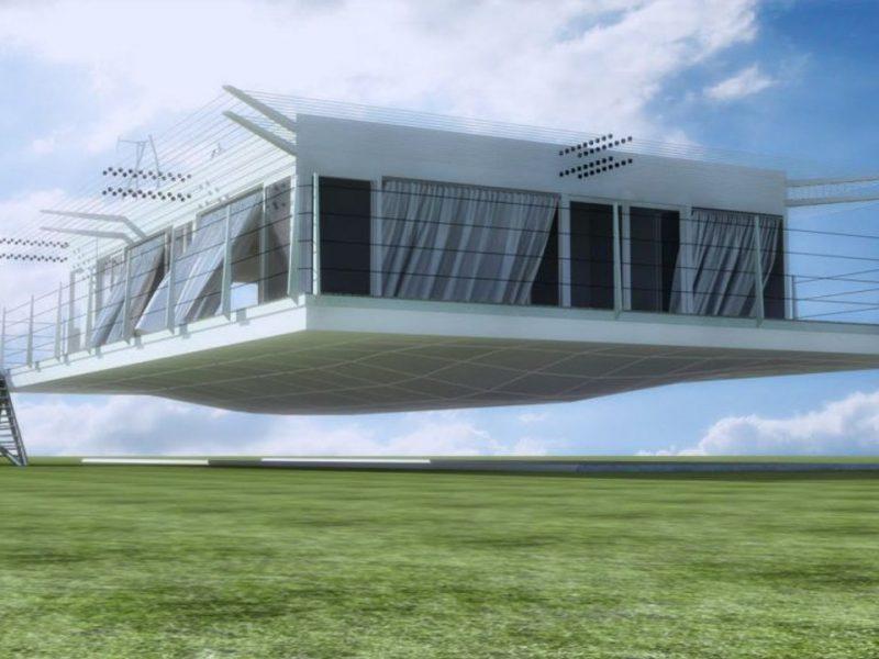 Японская компания строит дома, которые могут парить над землей (ВИДЕО)