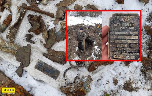 В Украине откопали американский истребитель времен Второй мировой (ФОТО)
