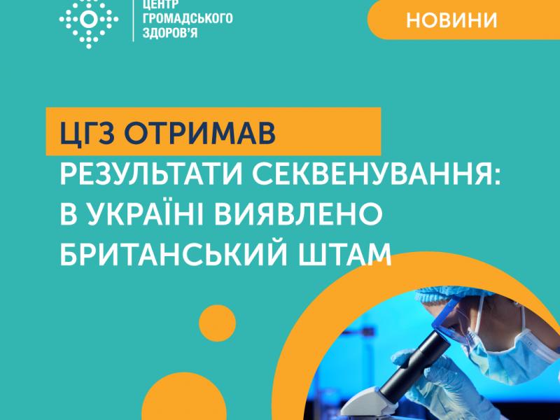 В Украине выявлен британский штамм коронавируса