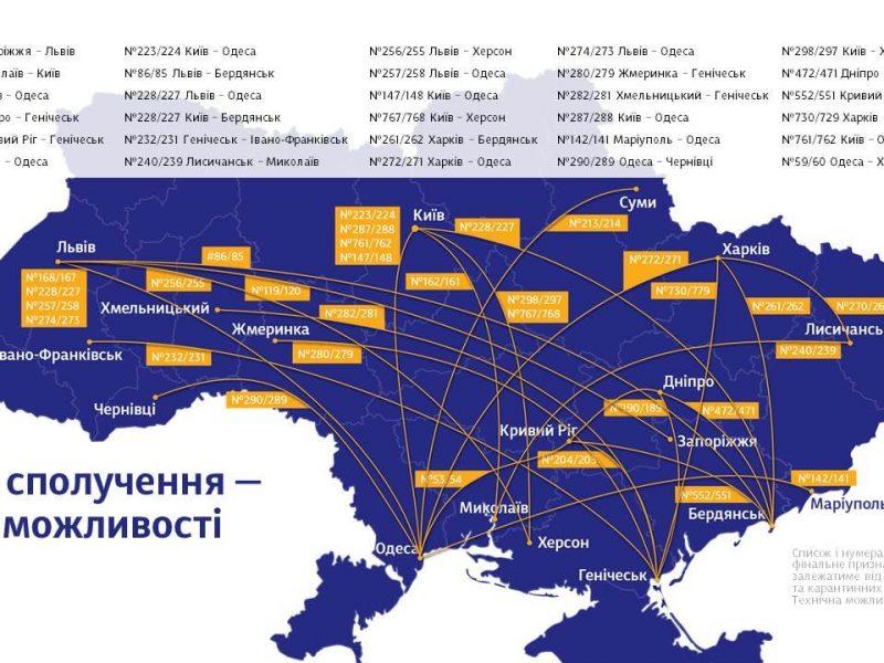 На лето Укрзализныця готова назначить более 30 летних поездов