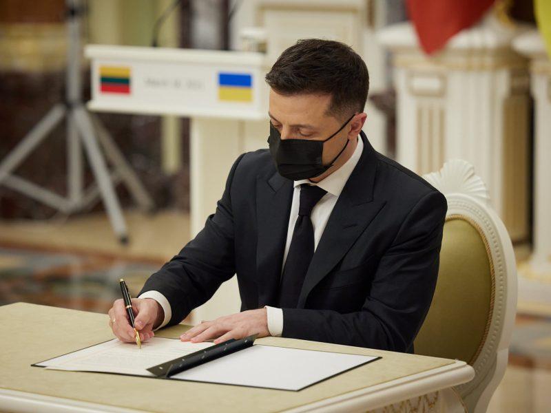 Зеленский и Науседа подписали Совместную декларацию о европейской перспективе Украины (ФОТО)