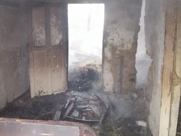 На Николаевщине спасатели тушили сено и крышу заброшенного дома (ФОТО) 5