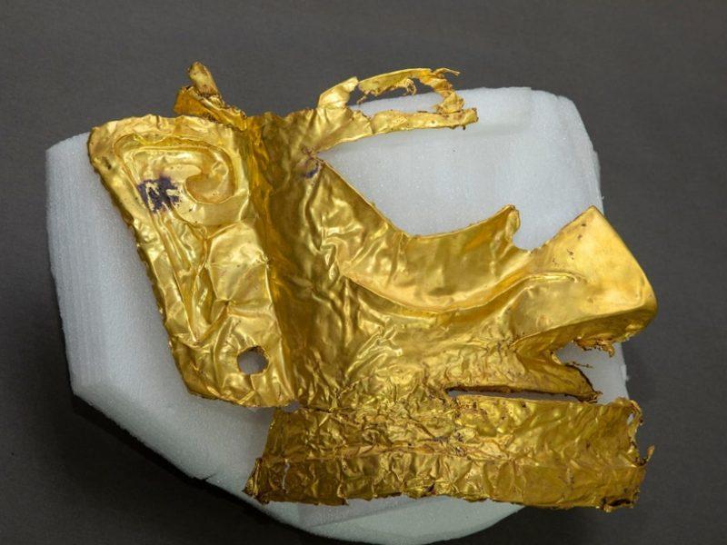 В Китае археологи обнаружили золотую маску возрастом 3 тысячи лет (ФОТО)