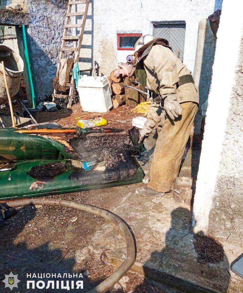 На Николаевщине полицейский офицер громады спасла детей на пожаре (ФОТО) 7
