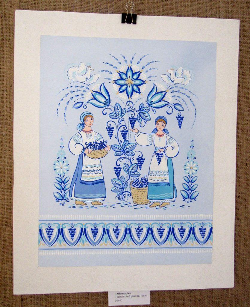 В Николаеве открылась выставка уникальной таврийской росписи Любови Паранюк (ФОТО) 13