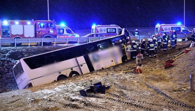 На том же месте. В Польше попал в аварию украинский автобус, есть погибший и пострадавшие
