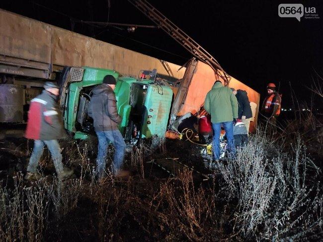 В Кривом Роге на СевГОКе поезд врезался в грузовик с людьми - 5 пострадавших (ФОТО) 1