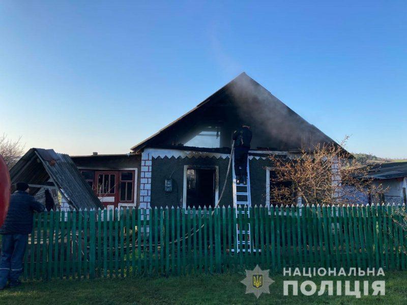 В Вознесенском районе ночью подожгли жилой дом – полиция задержала подозреваемого (ФОТО)