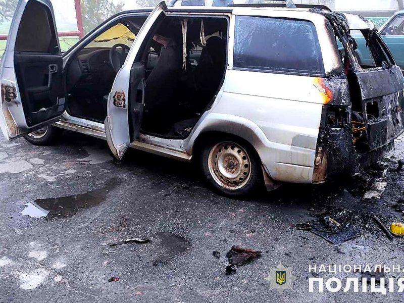 В Николаевском районе в автомобиль ночью бросили бутылку с зажигательной смесью — полиция разбирается