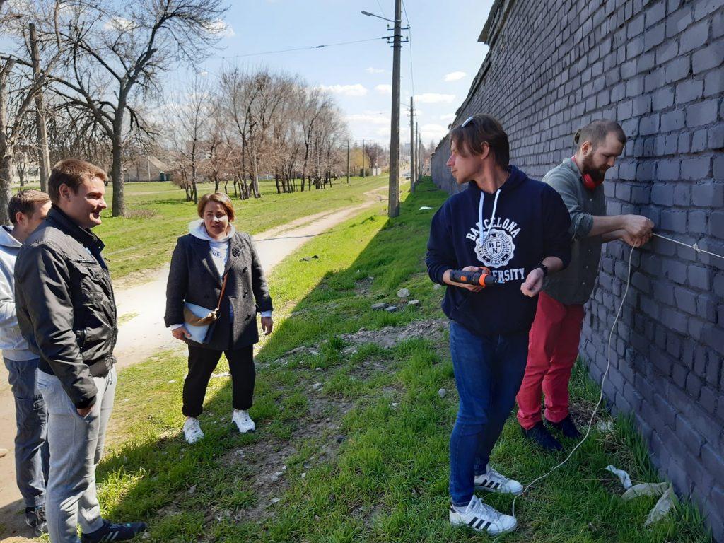 В Николаеве приступили к созданию масштабного мурала, обещают урбан-парк (ФОТО) 1