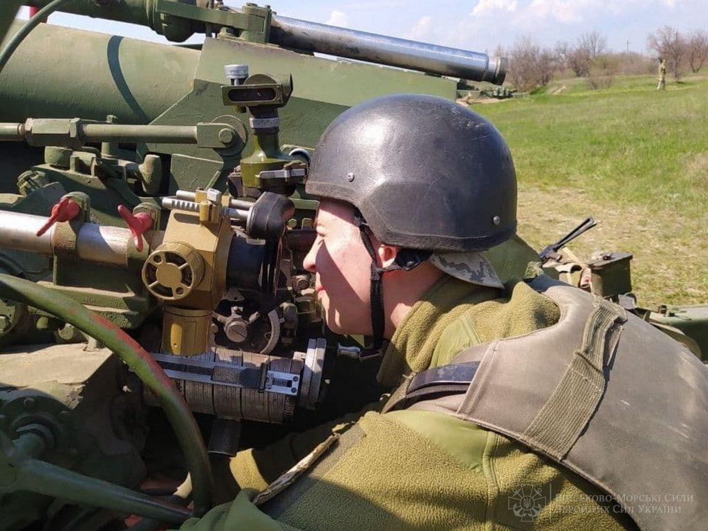 В Николаевской и Одесской областях артиллеристы ВМС учились прикрывать побережье (ФОТО) 3