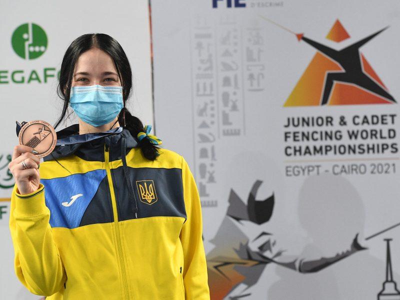 Из-за травмы фехтовала практически на одной ноге: Валерия Проченко из Николаева добыла «бронзу» юниорского чемпионата мира (ФОТО)