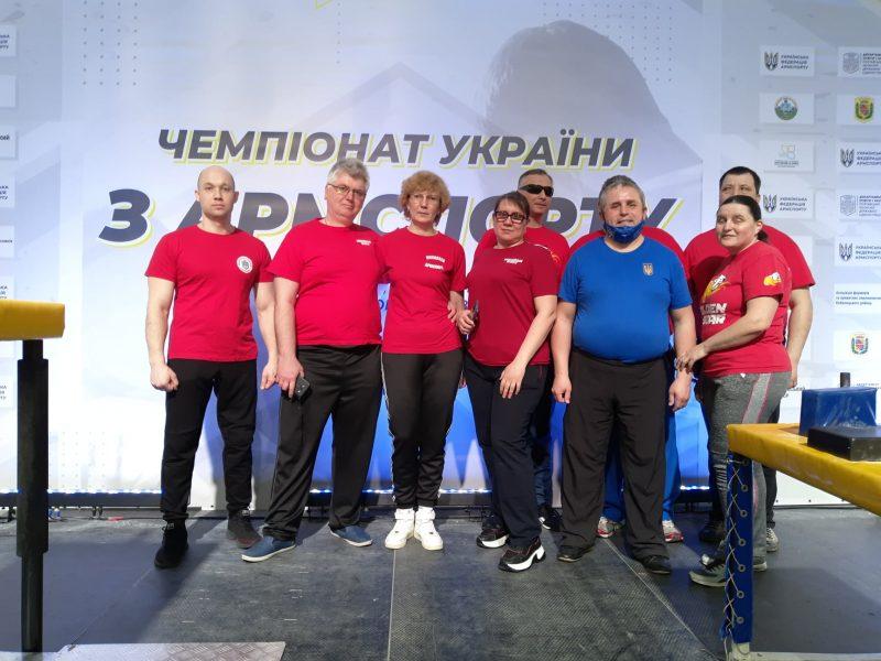 Николаевцы завоевали 12 наград чемпионата Украины по армспорту среди спортсменов с поражением опорно-двигательного аппарата и нарушениями зрения (ФОТО)