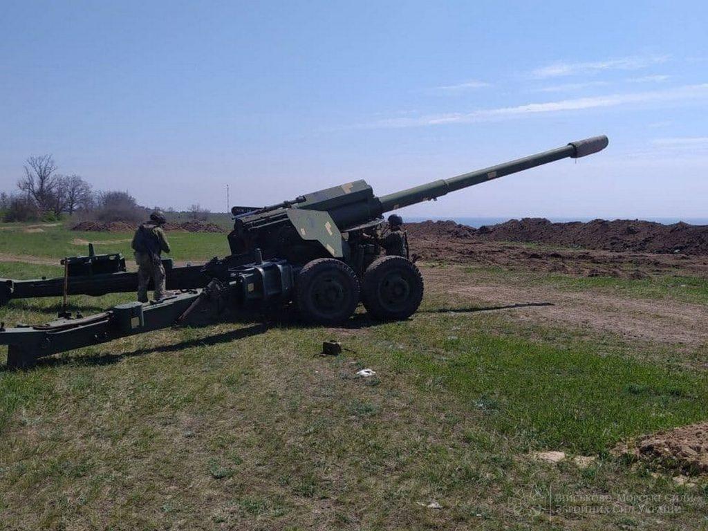 В Николаевской и Одесской областях артиллеристы ВМС учились прикрывать побережье (ФОТО) 9