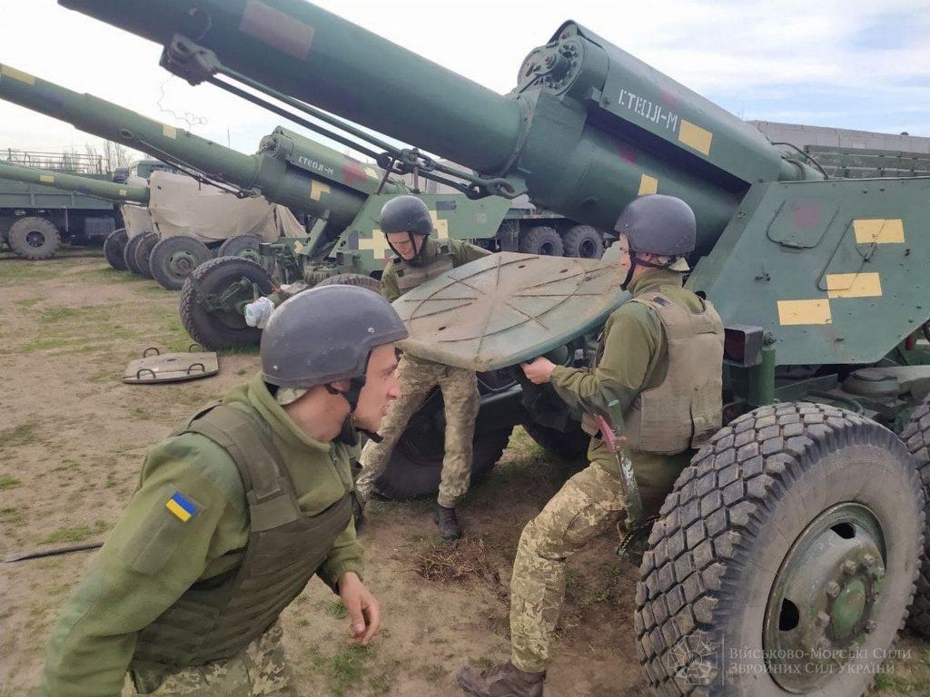 В Николаевской и Одесской областях артиллеристы ВМС учились прикрывать побережье (ФОТО) 11