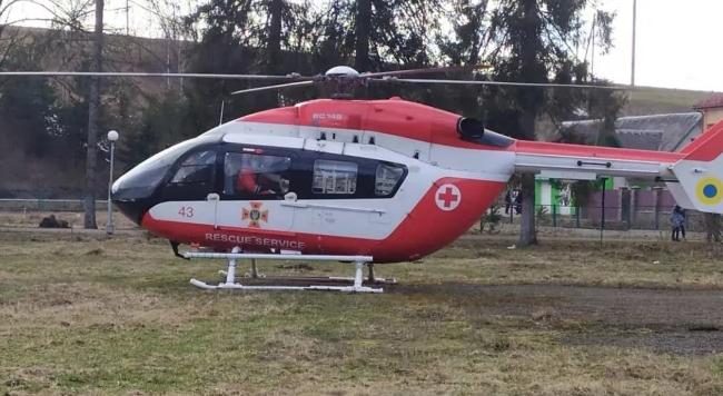 В Украине впервые вертолет аэромедицинской службы доставил пациентку в больницу