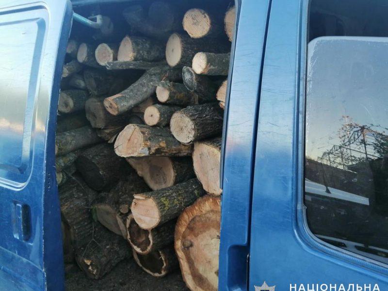 Откуда дровишки? На Николаевщине задержали грузовой микроавтобус с 6,5 кубометрами неизвестно откуда взявшейся древесины (ФОТО)