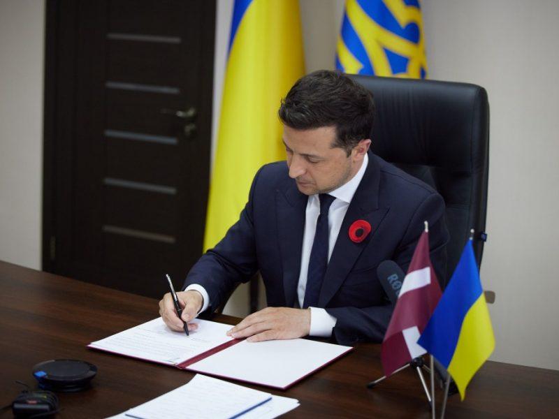 Президенты Украины и Латвии онлайн подписали совместную Декларацию о европейской перспективе Украины (ФОТО)