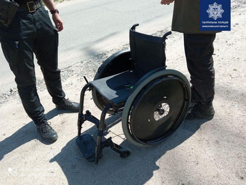 В Николаеве патрульные задержали «угонщика» инвалидной коляски (ФОТО)