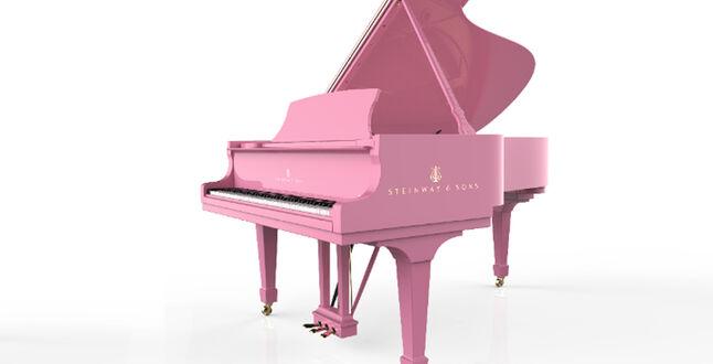 Значит, это кому-нибудь нужно: Steinway & Sons выпустил розовый рояль