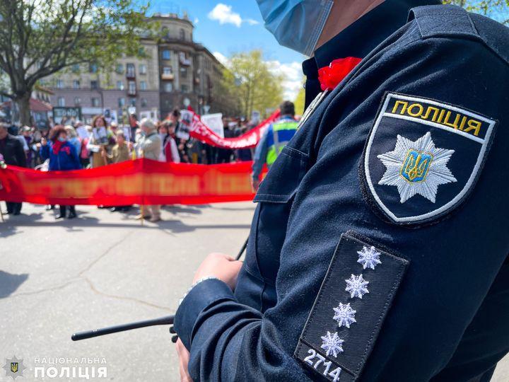 Празднование Дня победы над нацизмом на Николаевщине: полиция открыла два уголовных производства за использование запрещенной символики