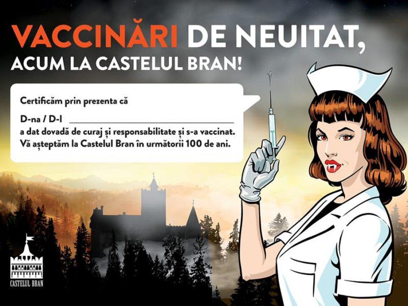 За прививкой – к вампирам. Центр вакцинации открыли в замке Дракулы (ФОТО)