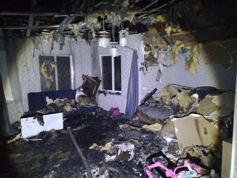 В Шевченково ночью тушили жилой дом (ФОТО)