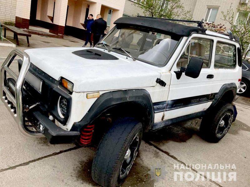 В Южноукраинске угнали машину – полицейские сработали оперативно (ФОТО)
