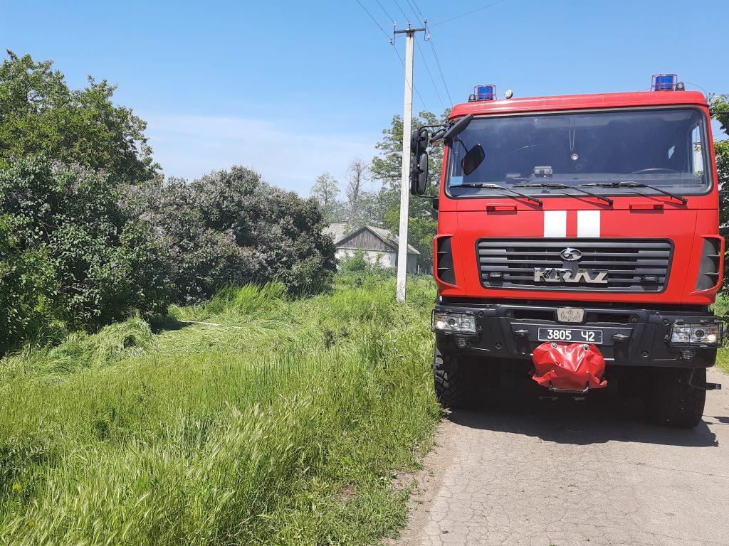 В Баштанском районе сгорело неэксплуатируемое жилое здание с 1,5 тоннами соломы (ФОТО) 5