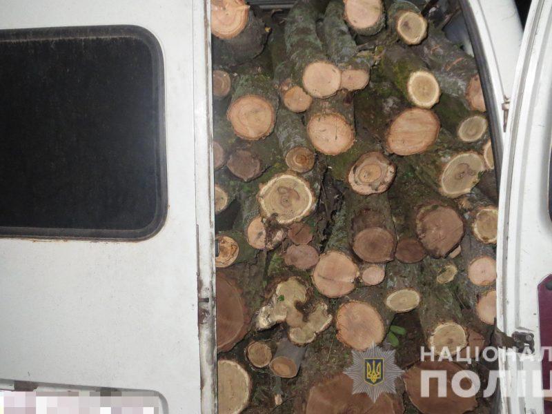 Опять Вознесенский район: полицейские задержали микроавтобус с 7 кубометрами свежеспиленных деревьев (ФОТО)