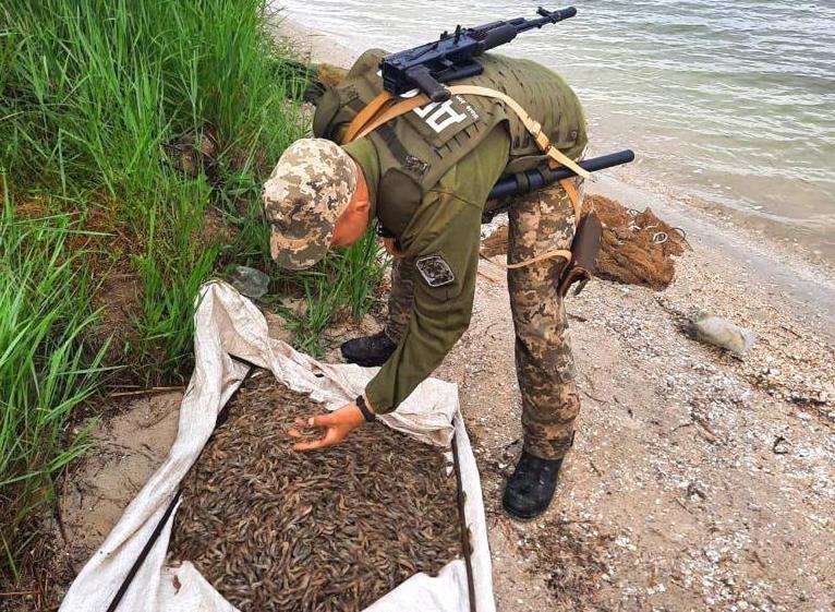 Возле Очакова пограничники задержали браконьера с 10 кг креветки – заплатит по тысяче за каждый кг (ФОТО)