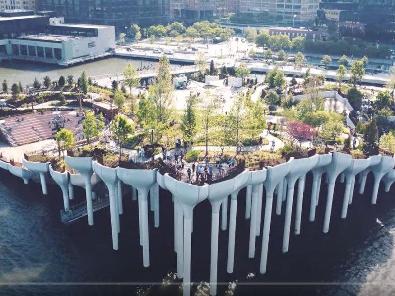 На Манхэттене открыли футуристический остров-парк – висит в воздухе (ФОТО, ВИДЕО)