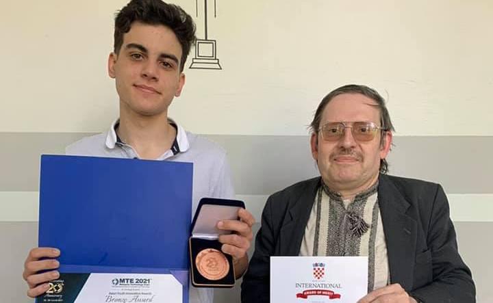 Юный николаевец стал бронзовым призером Международной выставки инноваций и технологий «Обмен технологиями 2021 – Малайзия – Хорватия» (ФОТО)