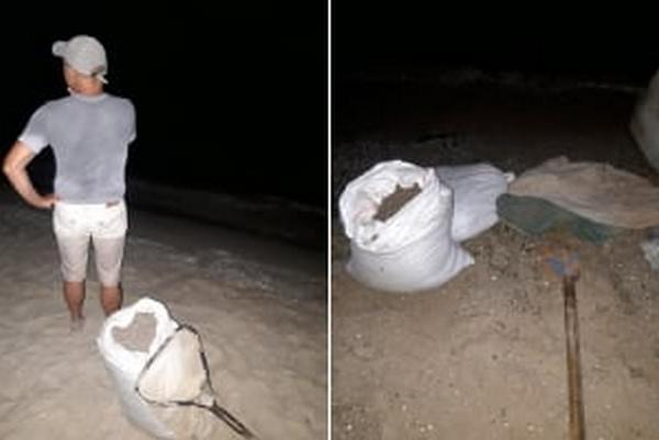 На побережье Черного моря Николаевский рыбоохранный патруль поймал браконьеров с 70 кг гамаруса