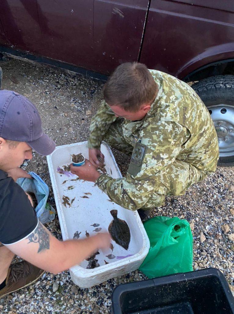 Выловили мальков камбалы и 4 кг креветки: в Рыбаковке пограничники выявили двух браконьеров (ФОТО) 1