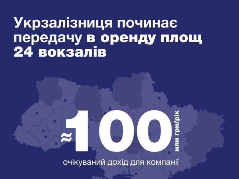 Укрзализныця хочет передать в аренду площади 24 железнодорожных вокзалов, в том числе – Николаевского