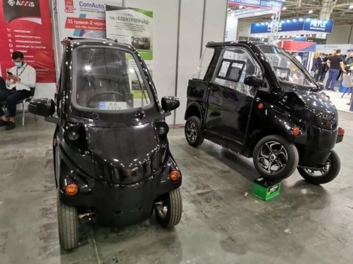 Konyk и Volyk. В Киеве представили отечественные электромобиль и электрогрузовичок  (ФОТО)