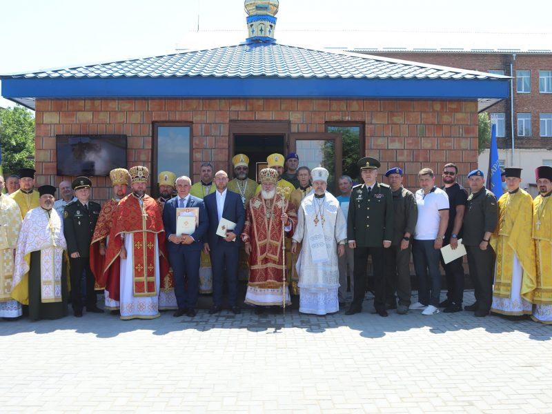 В Николаевской части Национальной гвардии Украины торжественно открыли военную часовню (ФОТО)