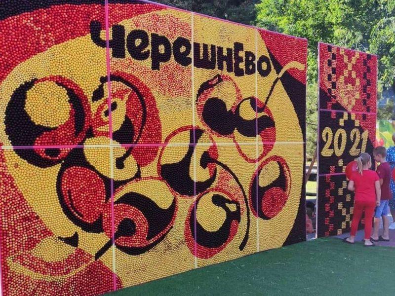 В Мелитополе провели фестиваль черешни – из ягод сделали картину и запустили черешневый фонтан (ФОТО)