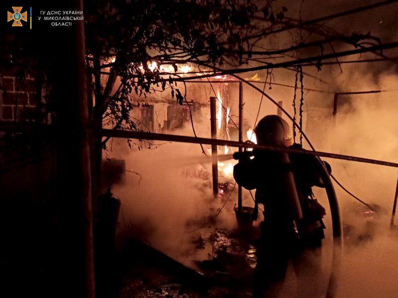 За сутки спасатели Николаевщины дважды тушили пожары в жилье (ФОТО)