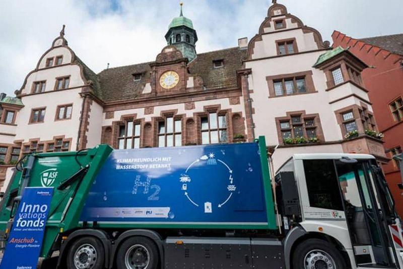 В немецком городе появились мусоровозы на водородном топливе