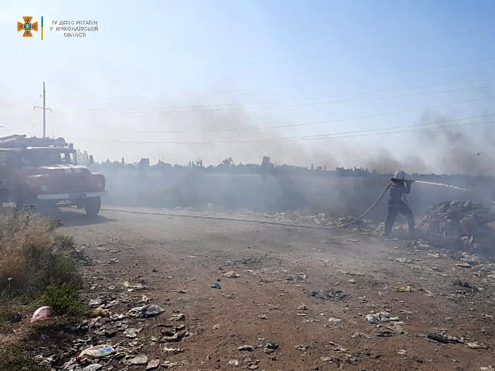 Сегодня горела Баштанская городская свалка и 10 га пшеницы на корню (ФОТО) 1