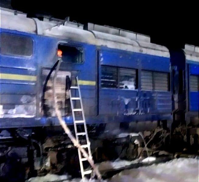 У Николаева горел тепловоз поезда Интерсити «Киев-Херсон»