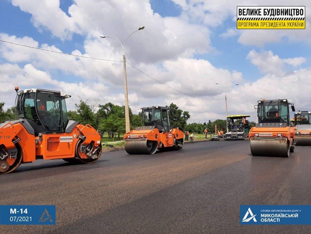 Ремонт дороги на въезде в Николаев: ул.Веселиновская перекрыта – там укладывают финишный слой покрытия (ФОТО) 1