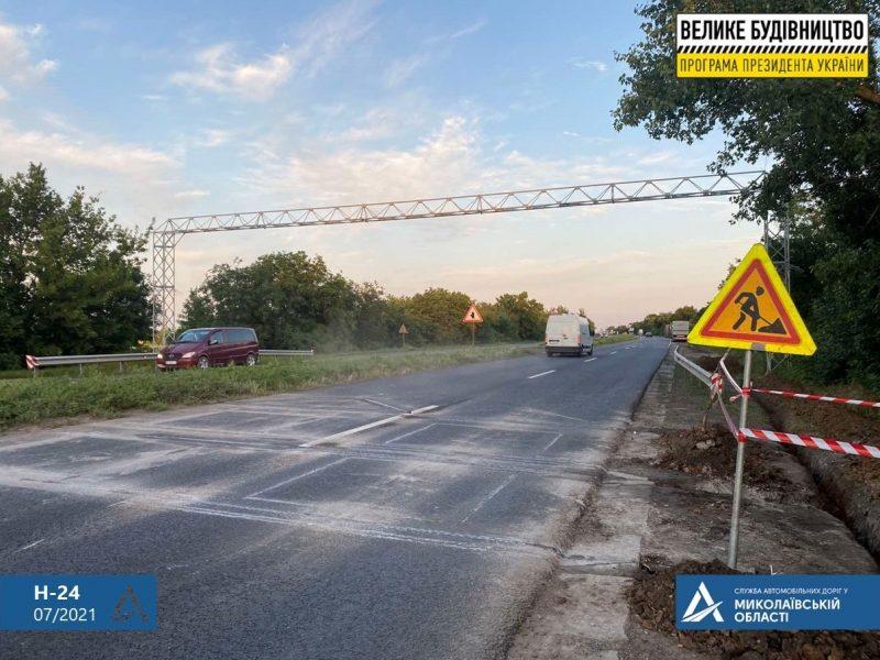 Неподалеку от Николаева на трассе Н-24 устанавливается WIM-система взвешивания, скоро начнут монтировать и на Варваровском мосту