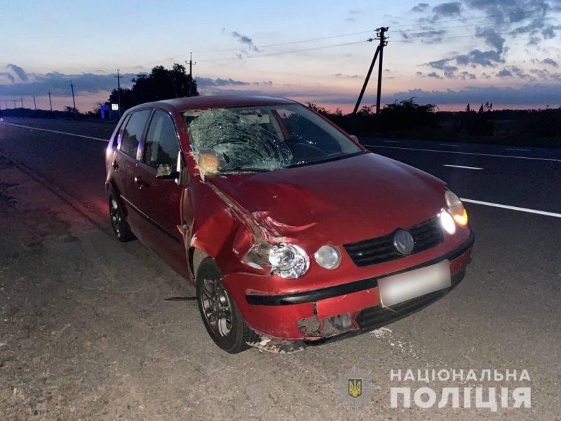 В ночном ДТП у Южноукраинска погиб пешеход (ФОТО)