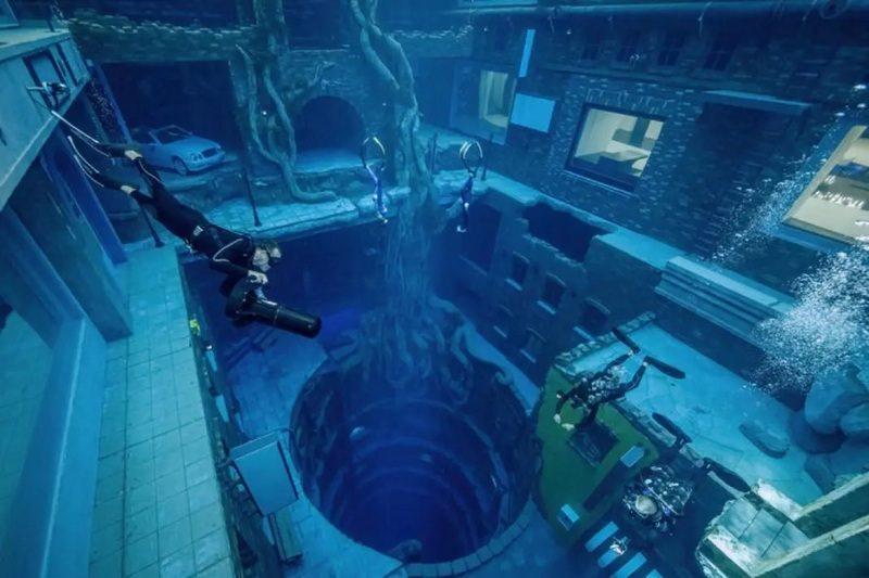 Заброшенный затонувший город – это бассейн глубиной 60 м, который открывается в этом месяце в Дубае (ВИДЕО)